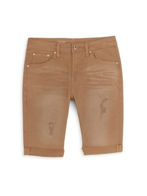 Boy's Nate Slim Denim Bermuda Shorts