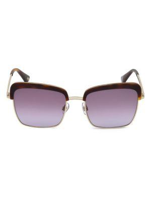55MM Violet & Havana Square Sunglasses