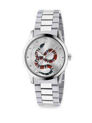 G-Timeless Snake Link Bracelet Watch