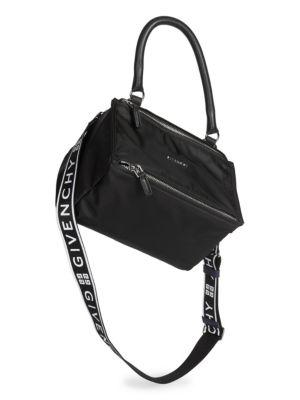 Small Nylon Pandora Bag With Logo Strap