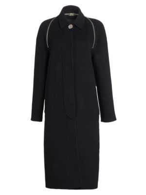 Splittable Wool Trench Coat