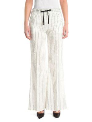 Silk Pinstripe Pants