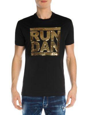 Run Dan Sequin Cotton Tee