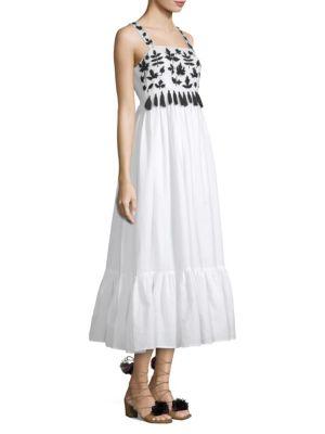 CAROLINA K | Terry Embroidered Tassel Dress | Goxip