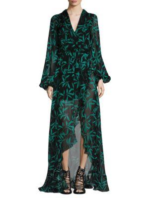 Olivia Leaf-Print Dress