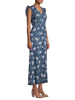 EMILIA FLORAL SLEEVELESS SILK JUMPSUIT