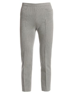 Franca Houndstooth Cropped Trousers