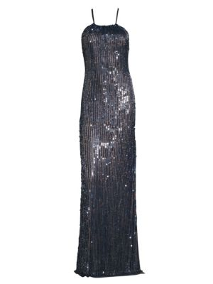 Fitted Sequin Gown