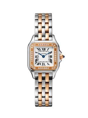 Panthère de Cartier Small Stainless Steel, 18K Rose Gold & Diamond Bracelet Watch