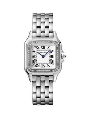 Panthère de Cartier Medium Stainless Steel & Diamond Bracelet Watch