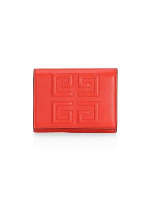 Emblem Logo Leather French Wallet by Givenchy