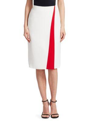 Alain Front Stripe Pencil Skirt