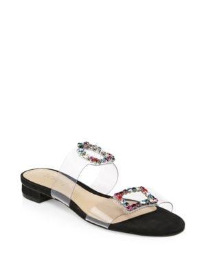 Judith Jeweled Transparent Sandals