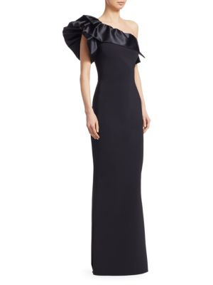 Elisse Ruffle Evening Gown