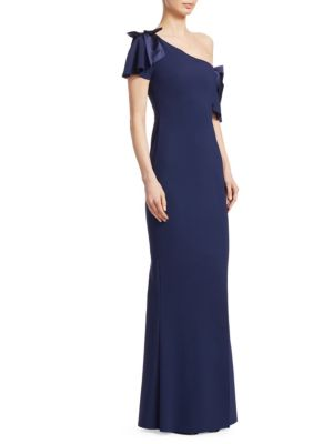 Dvora One-Shoulder Bow Gown