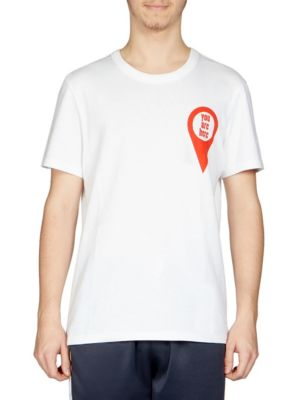 You Are Here Cotton Graphic Tee