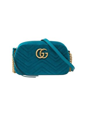 Gg Marmont Velvet Small Shoulder Bag by Gucci