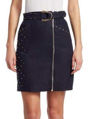 Jinta Zip-Front Skirt