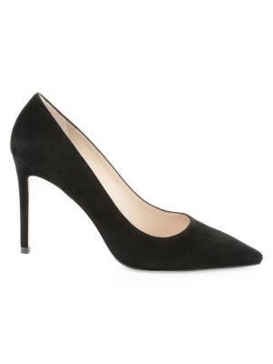 Leigh Point Toe Suede Pumps
