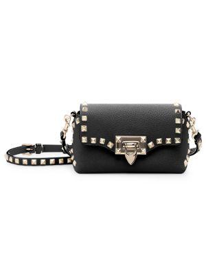 Mini Leather Rockstud Crossbody Bag