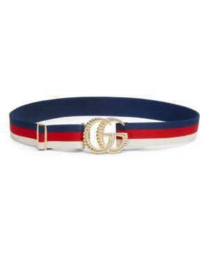 GG Logo Stripe Belt