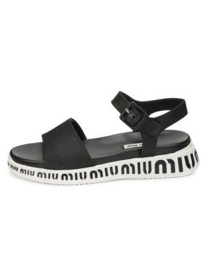 Logo Flatform Sandals