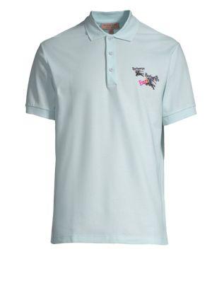 Embroidered Logo Pique Polo Shirt