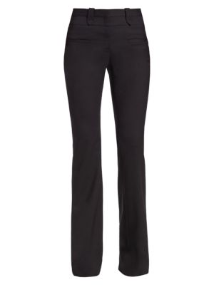 Serge Flared Stretch-Wool Pants
