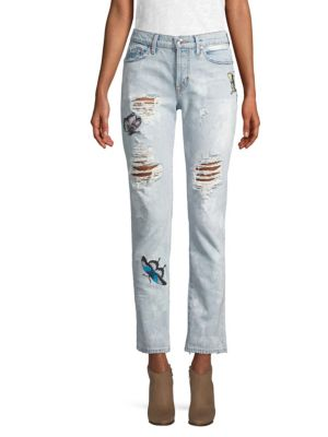 Riley Patch Distressed Jeans