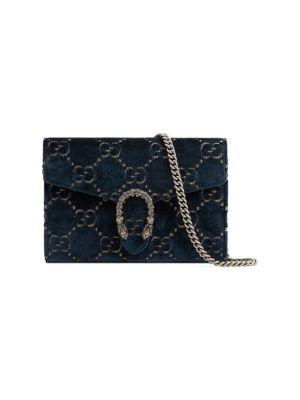 Mini Dionysus Velvet Chain Wallet