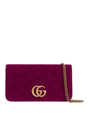 GG Marmont Velvet Wallet on Chain