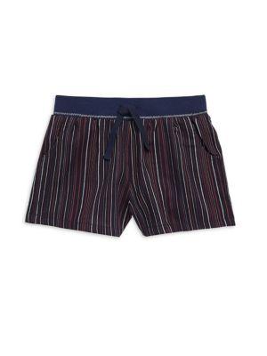 Girl's Striped Chambray Shorts
