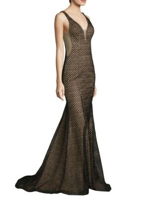 V-Neck Fitted Gown