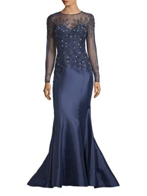 BASIX BLACK LABEL Beaded Top Gown