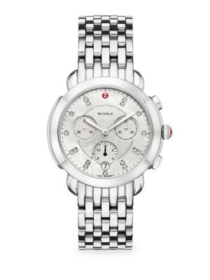 Sidney Stainless Steel Diamond Dial Watch