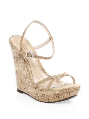 Auria Cork Wedge Ankle-Strap Sandals