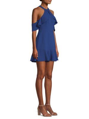 Cold-Shoulder Fit-&-Flare Dress