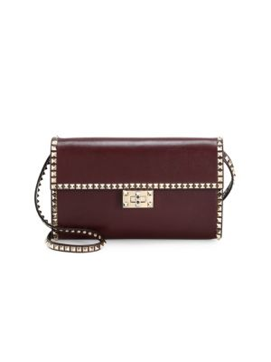 Leather Rockstud Shoulder Bag