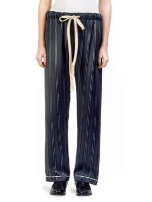 Silk Stripe Pajama Trousers