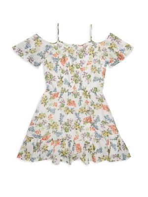 Girl's Fit-&-Flare Lace Dress