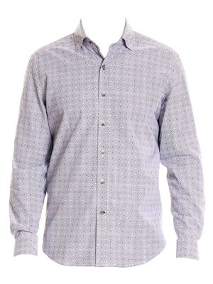 Miles Button-Down Print Shirt
