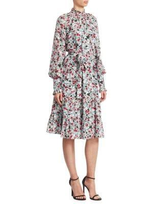 Eugenie Floral-Print A-Line Dress