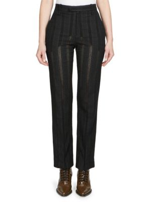 Owl Eye Embroidered Trousers