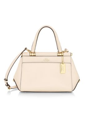 Grace Petite 20 Leather Top Handle Bag by Coach
