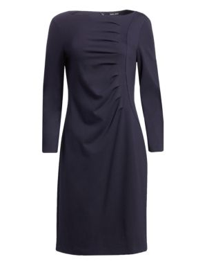 Ruched Jersey A-Line Dress
