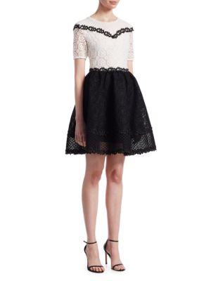 Renald guipure-lace dress