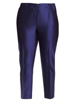 China Blue Silk Pants