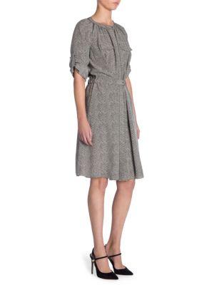 Silk Herringbone Dress