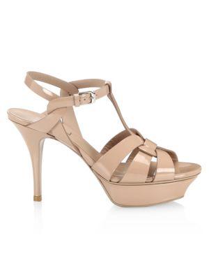 Patent Leather Platform Slingback Sandals