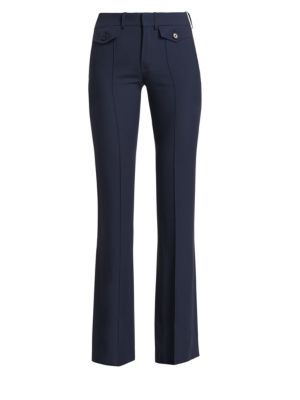 Cady Button-Front Trousers